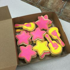 Cookies to match our Jem and the Holograms party.