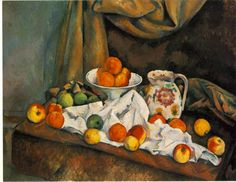 Paul Cezanne Most Famous Works | Compotier, Pitcher, and Fruit (1892-94)