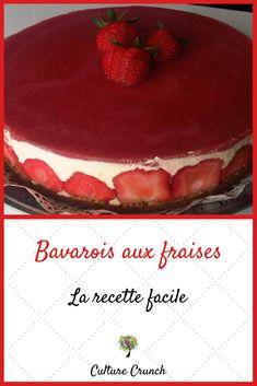 Wedding Cake Recipes 48507 Bavarian strawberry: the easy recipe Vegan Fruit Cake, Rum Fruit Cake, Chocolate Fruit Cake, Fresh Fruit Cake, Vegan Sweets, Fruit Birthday Cake, Fruit Wedding Cake, Flan Dessert, Fruit Cake Design