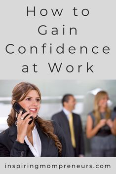 Confidence gives you the courage to ask for that raise you deserve, gun for a promotion, move up the ladder and establish yourself as a leader. Here's how to gain confidence at work. Ways) Feeling Insecure, How To Gain Confidence, Low Self Esteem, You Deserve, Everyone Else, Understanding Yourself, Ladder, Feel Good, Gun