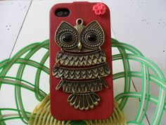 Hard Case Cover With Bronze Cute Owl For Apple by beautiful365, $11.99