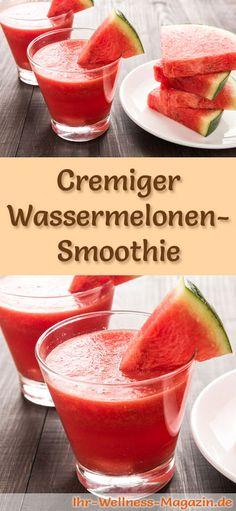 Wassermelonen-Smoothie selber machen - ein gesundes Smoothie-Rezept zum Abnehmen für Frühstücks-Smoothies oder sättigende Diät-Mahlzeiten ...