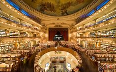 """100-Year-Old Theater Is Now A Bookstore And It's Spectacular When I die, you can just bury me here….  For the girl whose dream in life is to have an exact replica of the """"Beauty and the Beast"""" library in her house, visiting this bookstore would be like letting a kid loose in a candy shop. El Ateneo Grand Splendid lives up to its name by being both grand in size, and splendid in decoration."""