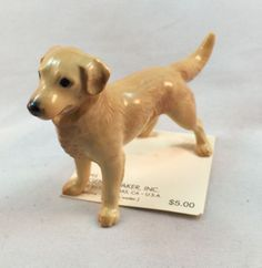 Vintage Hagen Renaker Golden Retriever Porcelain Dog Puppy Figurine 3188, 1995