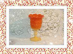 1960\'s L E Smith  Bittersweet (orange slag)Stemmed Vase/Goblet Starburst Pattern . Starting at $20