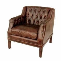 Gordon Blue Leather Arm Chair | Pinterest | Arms, Dream House Plans And  Leather