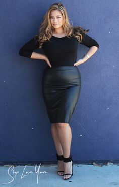 Faux Leather Skirt - Plus Sizes @ ShopLoveYourz.com