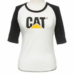 The CAT Ladies Trademark Baseball Tee is both a fashionable and practical garment, making it ideal for work or leisure wear. It of course features the stylish CAT workwear logo printed on the front. Cat Workwear, Safety Workwear, Safety Work Boots, Summer Essentials, Rain Wear, Cat Lady, Work Wear, T Shirts For Women, Caterpillar