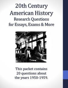 Us history research paper topics 20th century