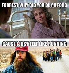 Forrest why did you buy a Ford Funny Car Quotes, Funny Pix, Funny Picture Jokes, Funny Pictures, Truck Quotes, Funny Cars, Ford Humor, Ford Memes, Truck Memes