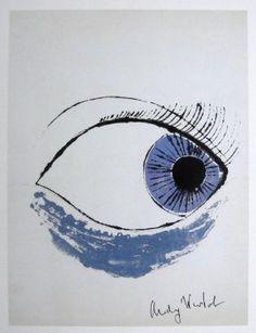 "Andy Warhol"" ""Eye"", 1982 Print"