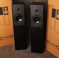 KEF Creasta 3. Speakers Towers Pair Black Ash. #KEF