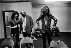 Jimmy Page, Peter Grant and Robert Plant