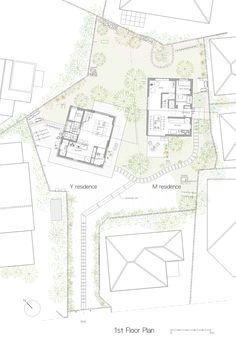 naoya kawabe arranges two japanese houses within garden plot