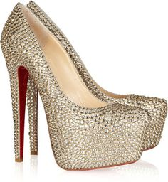 ShopStyle: Christian Louboutin Daffodile 160 crystal-embellished suede pumps