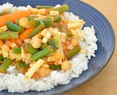 Another Veg curry- for the crock pot