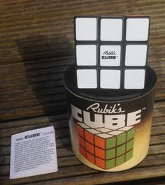Vintage 1980 Rubik's Cube boxed by ideal.