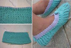 Esta pantufa foi a segunda peça que fiz neste ponto.Quando conheci o ponto pelo blog Falando de  Crochet , visualizei logo a imagem de uma ...