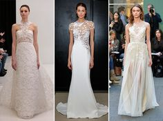 Sheer style creates a gorgeous illusion for your special day.