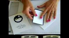 Simply Simple FLASH CARD Glitter Snowbank by Connie Stewart, via YouTube.