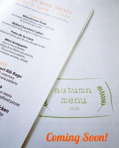 New Early Bird & A La Carte menus will be on your tables from Monday. Bake Zucchini, Bar Grill, Early Bird, Orzo, White Beans, Antipasto, Grilling, Menu, Instagram Posts