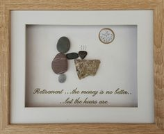 Retirement pebble art gift idea  see Sticks and Stones of Mickleover