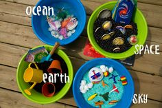 Imagination bowls (more bowls here: http://mysmallpotatoes.com/2012/08/23/weekly-kids-co-op-imagination-bowls-2/)