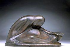 Russian Beggarwoman II / 1907/cast 1946-1957 / Ernst Barlach / Bronze