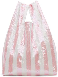 Ashish SSENSE Exclusive Pink Striped Sequin Tote