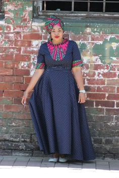 Shweshwe dresses 2020 is extremely well respected mostly in Africa. let us show shweshwe dresses for South African women to copy in her coming parties. African Print Dresses, African Print Fashion, African Fashion Dresses, Africa Fashion, African Prints, African Attire, African Wear, African Women, African Traditional Dresses