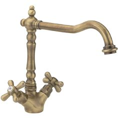 £109.95 Tre Mercati - French Classic Mono Sink Mixer - Antique Brass - 197