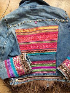 ❤ más diy in 2019 denim ideas, denim jeans, boho diy. Mode Hippie, Bohemian Mode, Diy Jeans, Diy With Jeans, Gilet Jeans, Jacket Jeans, Vetements Clothing, Nordstrom Jeans, Diy Vetement