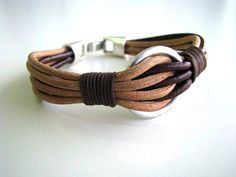 Items similar to Made to order Men's leather bracelet on Etsy - Jewelry Sale Leather Cord Bracelets, Leather Cuffs, Leather Jewelry, Bracelets For Men, Leather Men, Beaded Bracelets, Leather Jackets, Pink Leather, Etsy Jewelry