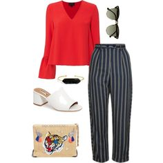 SXSW in Austin, Texas by marinavl on Polyvore featuring Intermix, Topshop, Halogen, Venna, BaubleBar and Ray-Ban