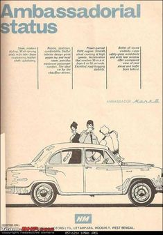 An old Ambassador Ad. Join us at http://www.turtok.com/