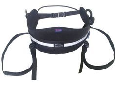 Canicross Belt - Black with detachable Leg Loops. Available in Medium and Large.