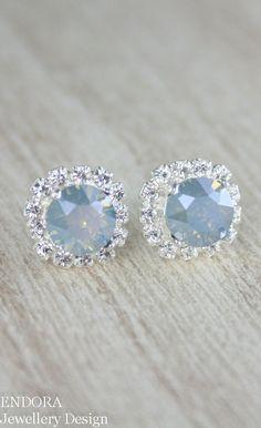 Dusty blue earringsdusty blue bridesmaid by EndoraJewellery