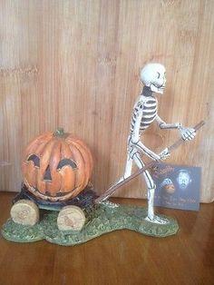 Bruce-Elsass-for-Bethany-Lowe-Skeleton-Pulling-Pumpkin-Cart Bethany Lowe, Lowes, Skeleton, Cart, Pumpkin, Christmas Ornaments, Halloween, Holiday Decor, Ebay