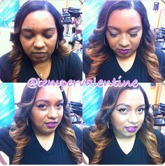 Full head weave dyes and blondes on pinterest