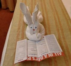 How to make a towel rabbit