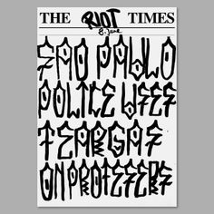 Poster design // typography // source: posterdiary /// http://www.bbc.com/news/world-latin-america-27761723 aulo