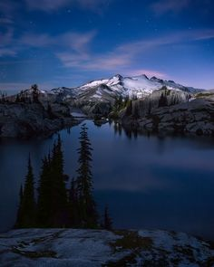 "Alpine Lakes Wilderness - Washington, USA • ""Once in a Blue Moon"" by Michael Bollino on http://500px.com/photo/13703397"