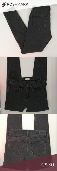 "Wrangler Faded Black Skinny denim jeans Worn twice. Can stretch. Inseam 26"" Wrangler Jeans Skinny Black Skinnies, Black Jeans, Cowl Neck Dress, Wrangler Jeans, Blue Skinny Jeans, Body Con Skirt, Denim Jeans, Hooded Jacket, Plus Fashion"