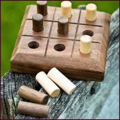 Plans of Woodworking Diy Projects - Handmade Wooden Tic-Tac-Toe Game Walnut by thevintagetruckgoods Get A Lifetime Of Project Ideas & Inspiration! Woodworking For Kids, Easy Woodworking Projects, Popular Woodworking, Woodworking Jigs, Woodworking Furniture, Woodworking Classes, Furniture Plans, Woodworking Magazine, Woodworking Articles