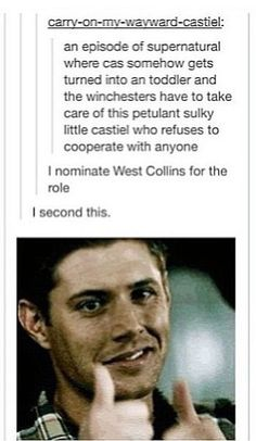 He would be a baby in a trench coat ! I'm port of myself for this... - Emily C.