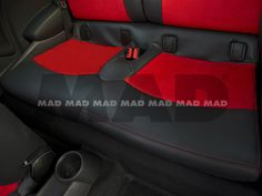 ALCANTARA® red + LEATHER LOOK anthrazit Maserati, Porsche, Bmw, Red Leather, Car Seats, Vehicles, Collection, Automobile, Car