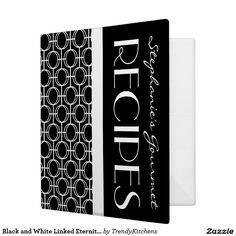 Black and White Linked Eternity Rings Recipe 3 Ring Binder