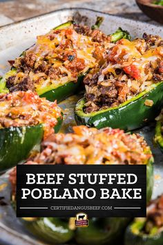 Beef Recipes, Baking Recipes, Yummy Eats, Yummy Food, Tamale Casserole, Beef Appetizers, Angus Beef, Stuffed Poblano Peppers, Ground Beef