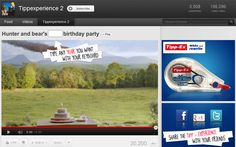 Enjoy the most amusing interactive video on YouTube :) Hunter and bear's 2012 birthday party. #tippexperience2 Party And Play, Bear Birthday, Ads, Advertising, Tv Shows, Birthday Parties, Social Media, Videos, Funny