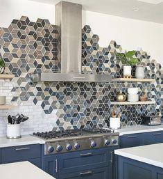 Beautiful Handmade Ceramic Tiles With Mercury Mosaics Handmade Tiles, Handmade Ceramic, Home Lighting Design, Kitchen Backsplash, Kitchen Mosaic Tiles, Mosaic Backsplash, Tile Design, Kitchen Remodel, Kitchen Design